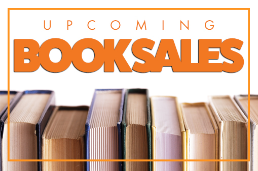 graphic for library book sales