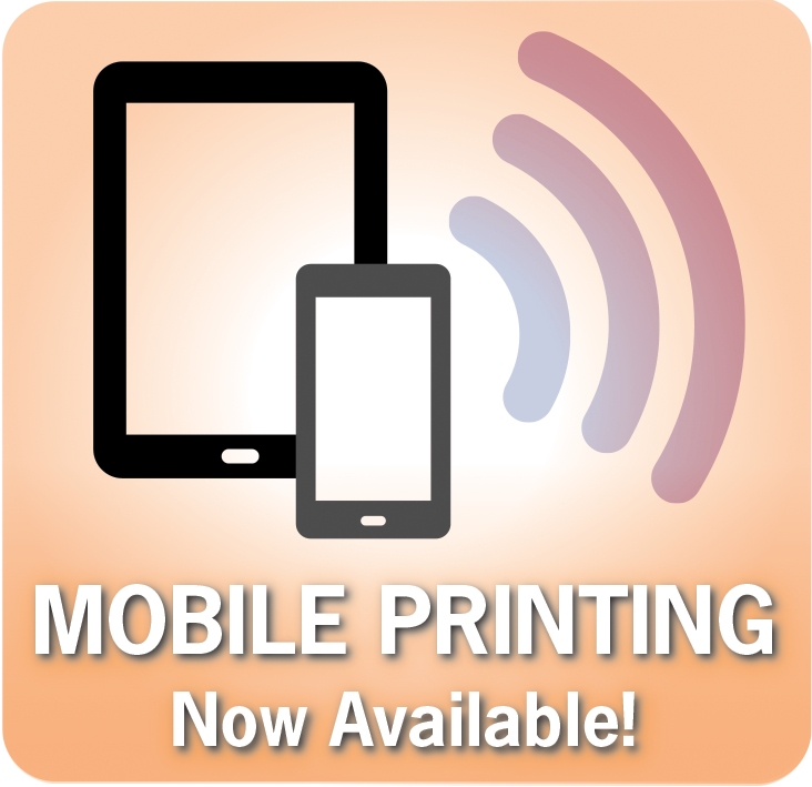 Mobile Printing at the Library graphic