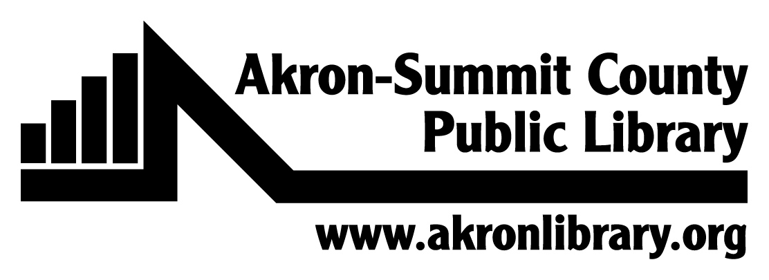 Akron-Summit County Public Library black & white logo